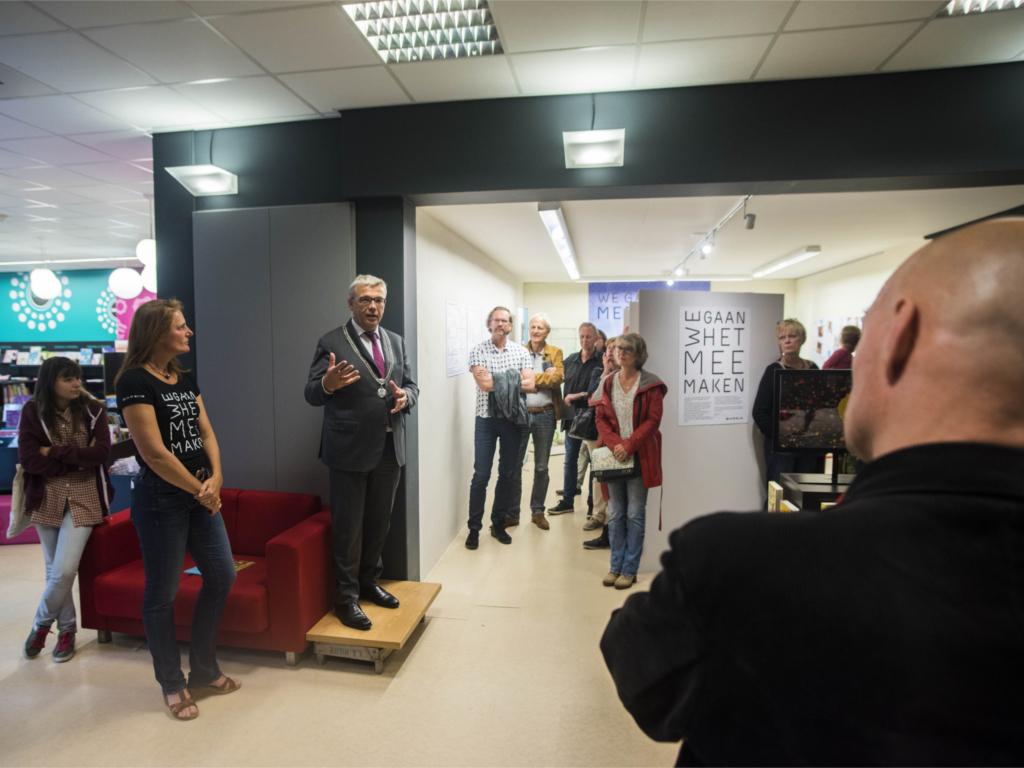 opening door burgemeester Koos Wiersma